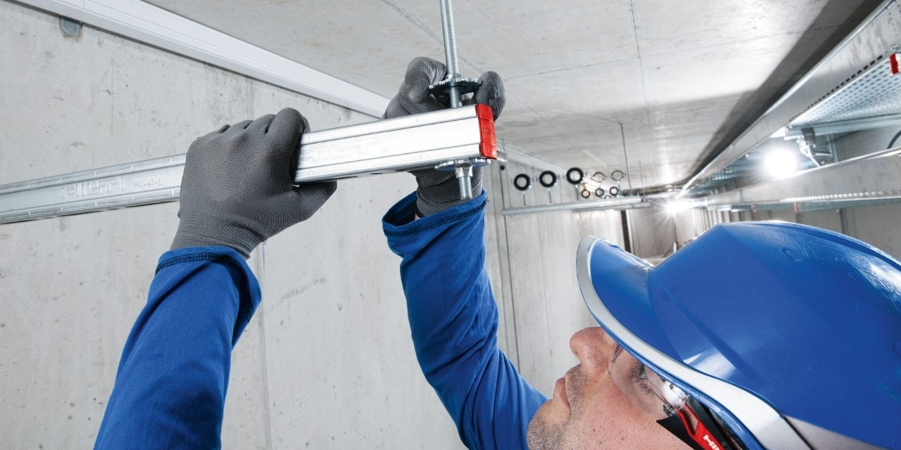 Hilti modular support system MQ-41-L installation channel for medium-heavy duty applications