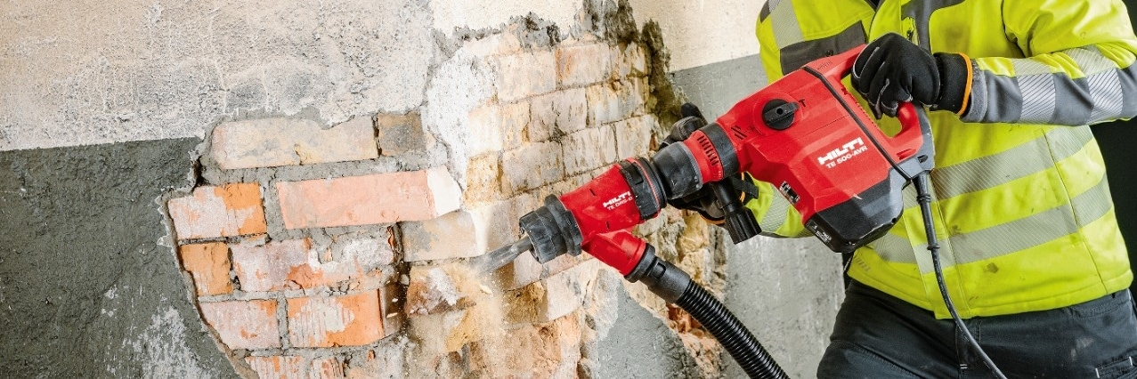Hilti TE 2000 demolition hammer application