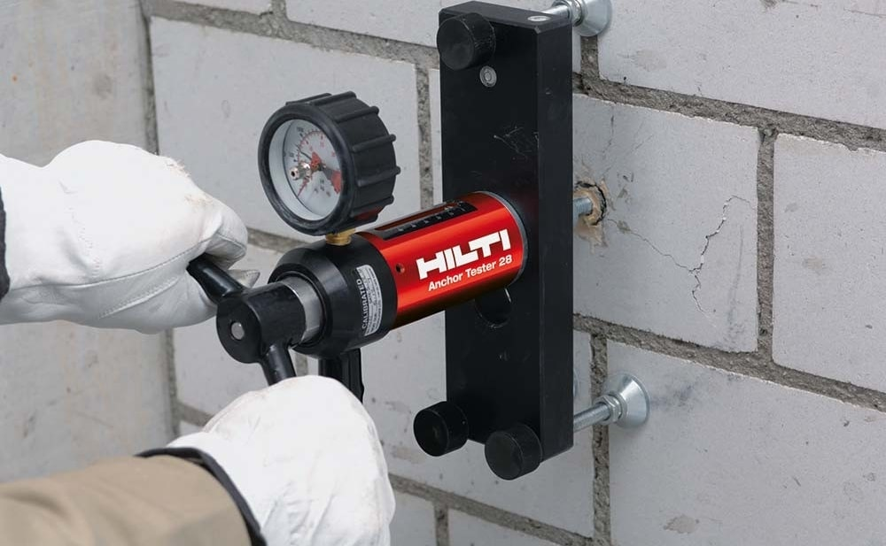 Hilti onsite testing HIT-HY 270 anchor tester