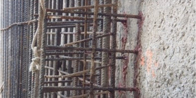 Hilti post installed rebar wall to wall connection