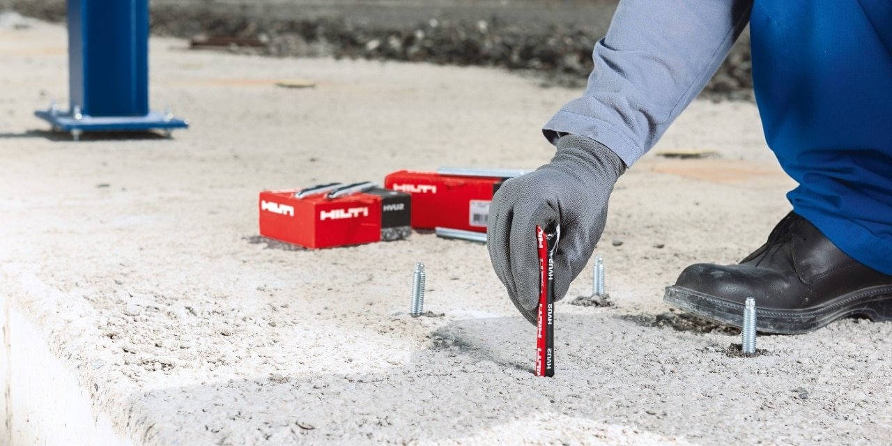 Hilti HVU2 foil capsule anchor fit in irregular holes