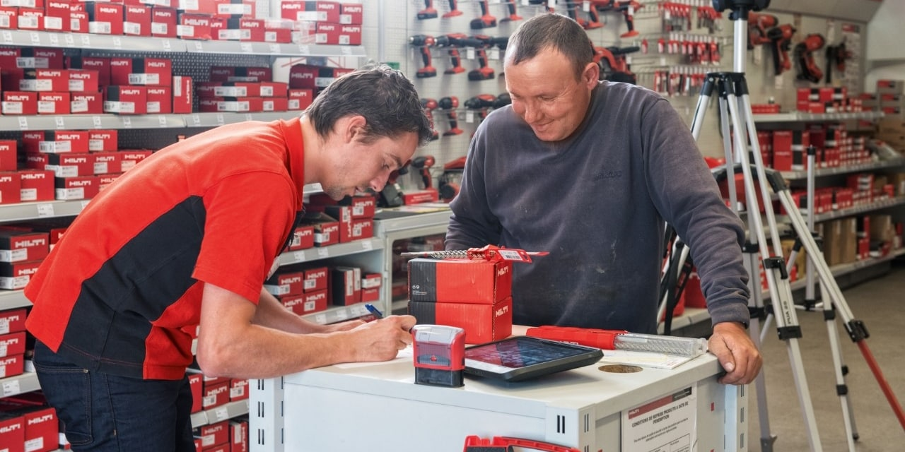 Hilti click and collect