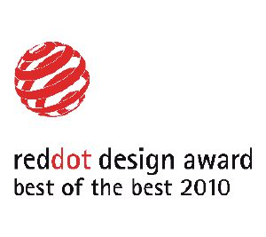 "Questo prodotto è stato insignito del premio ""Best of the Best"" Red Dot Design Award"