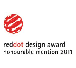 "Dieses Produkt wurde mit dem Red Dot Communication Design Award ""Honourable Mention"" ausgezeichnet."